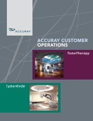 Customer Operations Brochure - Accuray