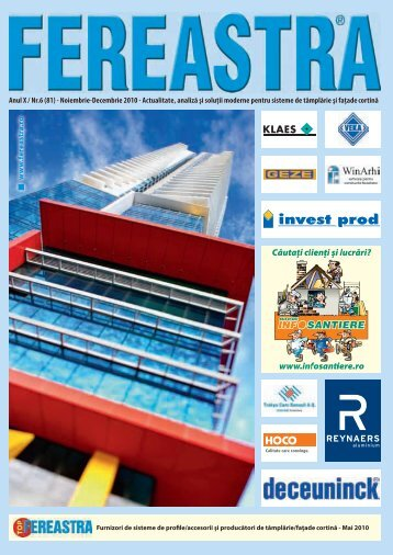 Anul X / Nr.6 (81) - Noiembrie-Decembrie 2010 - Agenda Constructiilor