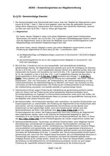 AEAO – Anwendungserlass zur Abgabenordnung ... - Hochschulkurs