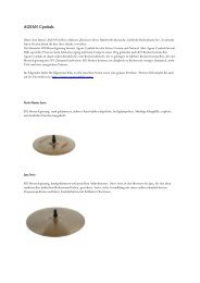 AGEAN-Cymbals Infos