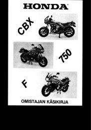 CBX750F käsikirja (.pdf, 2.02 MB) - Honda
