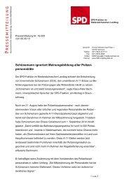 Pressemitteilung vom 06.09.2010 - Klaus-Peter Bachmann