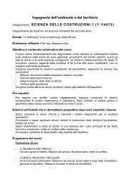 SCIENZA DELLE COSTRUZIONI - Ingegneria per l'Ambiente e il ...