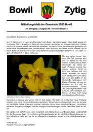 Bowil-Zytig Nr. 161 vom Mai 2013 - Gemeinde Bowil