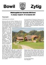 Bowil-Zytig Nr. 127 vom September 2007