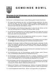 Weisungen und Gebührentarif Schul- und Zivilschutzanlage - Bowil