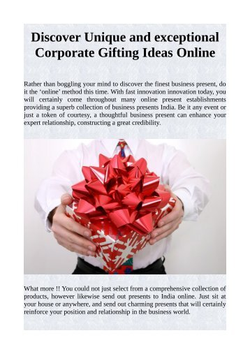 Discover Unique and exceptional Corporate Gifting Ideas Online