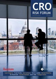 CRO Risk Forum - Reactions