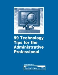 59 Technology Tips for the Administrative Professional