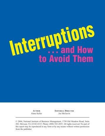 Interruptions 8/04