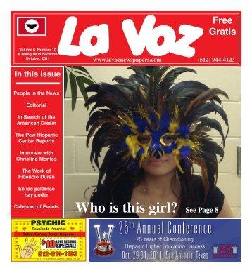 La Voz de Austin Octoberber, 2011 back.pmd - La Voz Newspapers