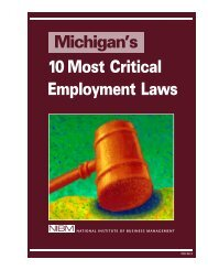 Michigan's 10 Most Critical Employment Laws