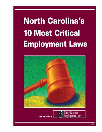 North Carolina's 10 Most Critical Employment Laws