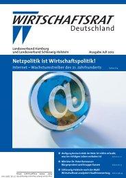 Netzpolitik ist Wirtschaftspolitik! - Wirtschaftsrat der CDU e.V.