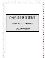 LA REPUBLIQUE DU CAMEROUN GEOVIC CAMEROON S.A.