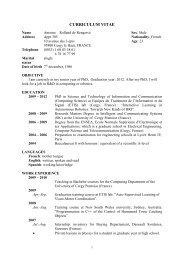CURRICULUM VITAE - ETIS - Ensea