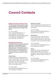 Contacts and Further Reading - Bradford Metropolitan District Council