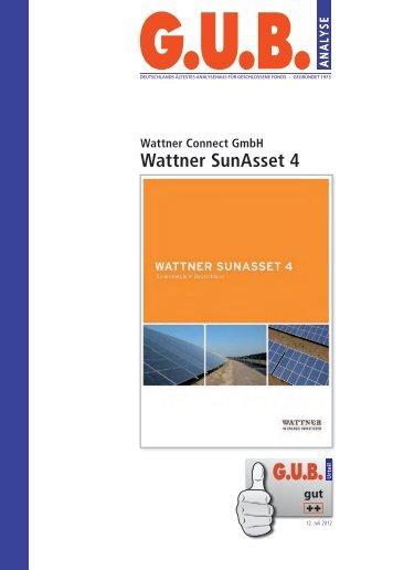 klicken für die G.U.B. Analyse zum Wattner SunAsset 4 - GeldWelt.de
