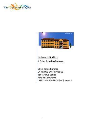 Résidence Hôtelière A Saint Paul-lez-Durance - CN2i