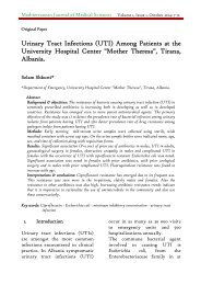 Urinary Tract Infections (UTI) Among Patients at the University Hospital Center