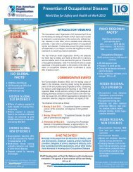 Prevention of Occupational Diseases - PAHO/WHO