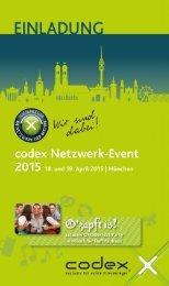 Einladungsflyer Netzwerk-Event 2015