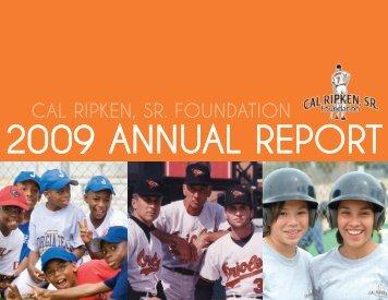 2009 donors - Cal Ripken, Sr. Foundation