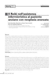 assistenza infermieristica al paziente anziano con neoplasia avanzata
