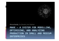 MAK€ – A System for Modeling, Optimizing, and Analyzing ...