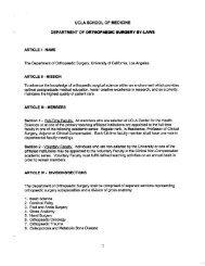 UCLA SCHOOL OF MEDICINE - UCLA Academic Senate