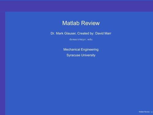 Matlab For Beginners Pdf