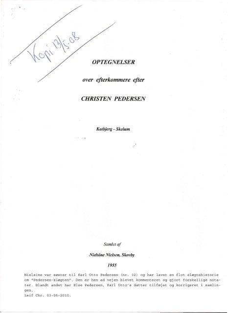 Nr. 96 Christen Pedersen's efterkommere - helec.dk