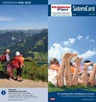 SalvenCard - Ferienregion Hohe Salve