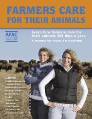 FOR THEIR ANIMALS - Alberta Farm and Animal Care