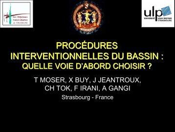 PROCÉDURES INTERVENTIONNELLES DU BASSIN :