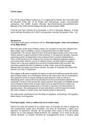 1 Call for paper The 18 European Maya Conference is co ... - Wayeb