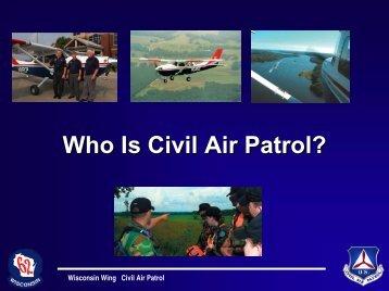 Civil Air Patrol Presentation   Wisconsin Homeland Security