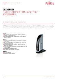 Datasheet Fujitsu usB-Port rePlicator Pr07 accessories - Icecat.biz