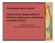 Farmakoterapie bolesti Doporučený diagnostický a léčebný postup ...