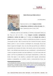 um dicionário histórico para a indústria da moda - IARA - Revista de ...