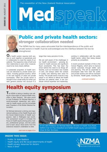 August 2011 - New Zealand Medical Association