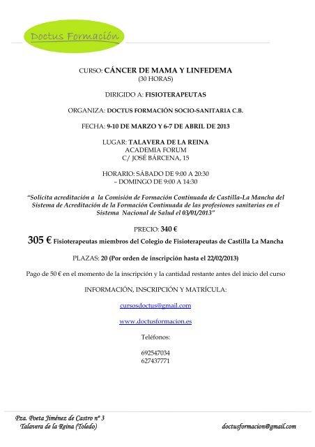 Información curso DLM.pdf - Fisaude