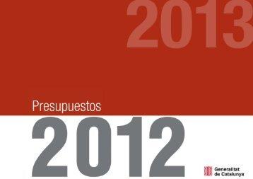 Presupuestos 2012 - Generalitat de Catalunya