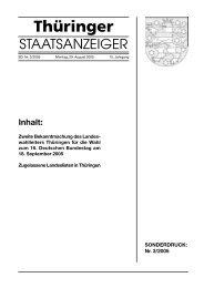 Thüringer - Wahlen in Thüringen - Freistaat Thüringen