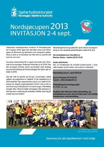 Invitasjon og påmelding Nordsjøcupen 2013 - Sjøfartsdirektoratet
