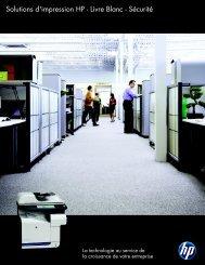 Livre Blanc - Sécurité - Hewlett-Packard France - HP