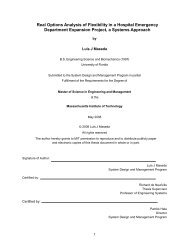 Real Options Analysis of Flexibility in a Hospital ... - Title Page - MIT