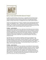 Barley Foods Health Benefits Research Project - BarleyFoods.org