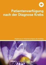 Patientenverfügung nach der Diagnose Krebs - Krebsliga Schweiz