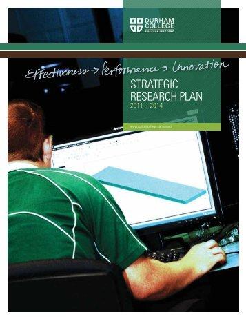 Strategic Research Plan 2011 – 2014 - Durham College